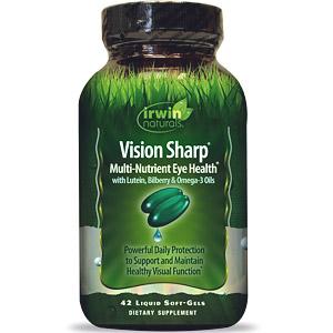 Irwin Naturals, Vision Sharp, комплексная питательная добавка для здоровых глаз, 42 мягкие желатиновые капсулы с жидкостью