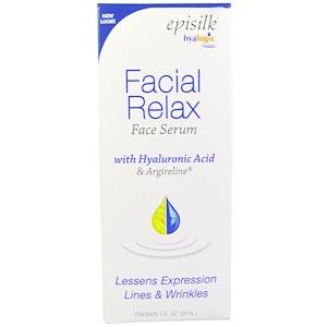 Hyalogic LLC, Episilk, расслабляющая сыворотка для лица