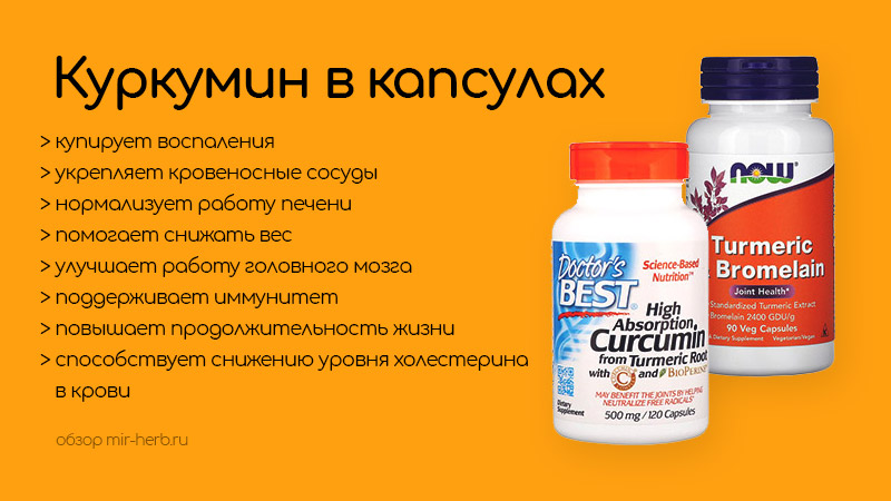 Куркумин в капсулах