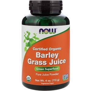 Now Foods, Сертифицированный сок травы органического ячменя