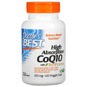 Doctor's Best, Легкоусвояемый CoQ10 с комплексом BioPerine
