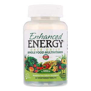 KAL, Enhanced Energy, мультивитамины из цельных продуктов