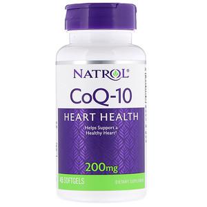 Natrol, CoQ-10, 200 мг