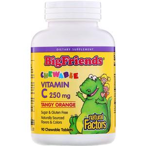 Natural Factors, Big Friends, жевательный витамин С
