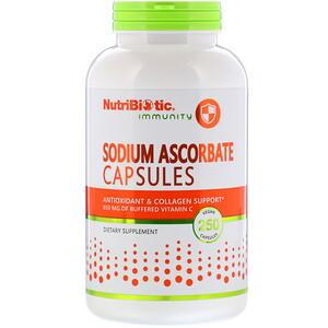NutriBiotic, Immunity, аскорбат натрия, 250