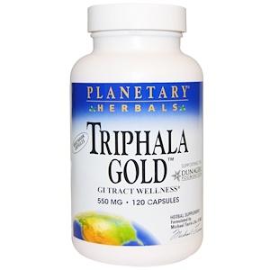 """Planetary Herbals, """"Трифала Голд"""", здоровье желудочно-кишечного тракта"""