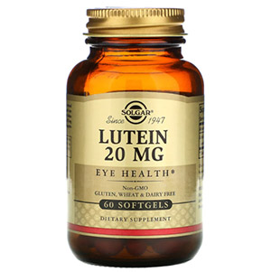 Solgar, Лютеин, 20 мг, 60