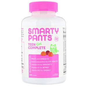 SmartyPants, комплекс для подростков-девушек, лимон и лайм, ягоды, кислое яблоко, 120