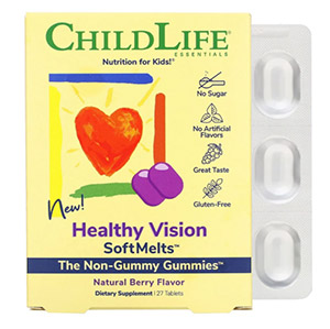 ChildLife, Healthy Vision SoftMelts, натуральный ягодный вкус, 27