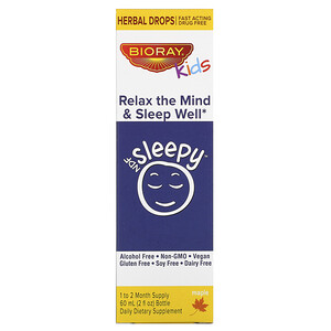 Bioray, NDF Sleepy для детей, Relax The Mind & Sleep Well