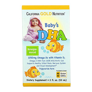 California Gold Nutrition, Baby's DHA, Omega-3s with Vitamin D3, 1050