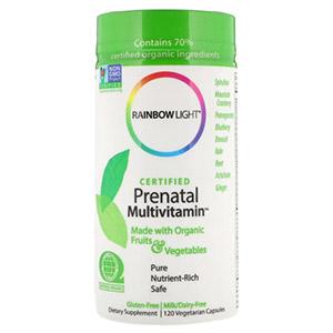 Rainbow Light, Сертифицированный Prenatal Multivitamin, 120 вегетарианских капсул