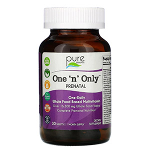 Pure Essence, One 'n' Only, витамины для беременных, 30 таблеток