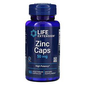 Life Extension, цинк в капсулах, высокая эффективность, 50 мг