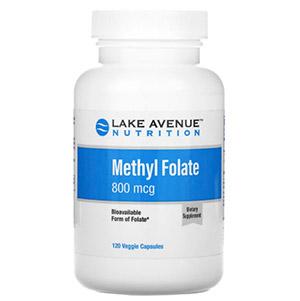 Lake Avenue Nutrition, Метилфолат, 800 мкг, 120