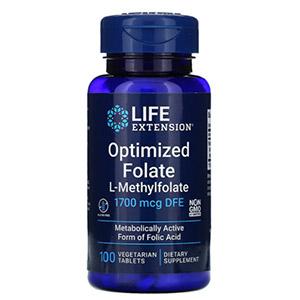 Life Extension, оптимизированный фолат, 1000 мг, 100