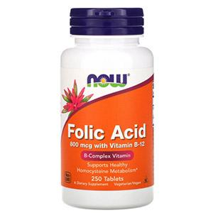 Now Foods, Фолиевая кислота, 800 мкг, 250