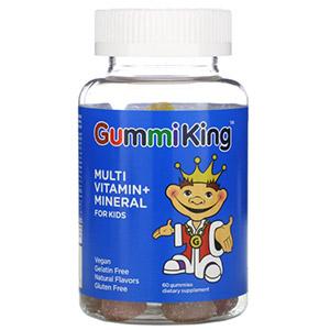 GummiKing, Мультивитаминная и минеральная добавка для детей со вкусом клубники, апельсина, лимона, винограда, вишни и грейпфрута, 60
