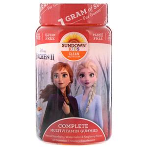 Sundown Naturals Kids, Жевательные конфеты с мультивитаминами, «Холодное сердце 2» Disney, со вкусом клубники, арбуза и малины, 60