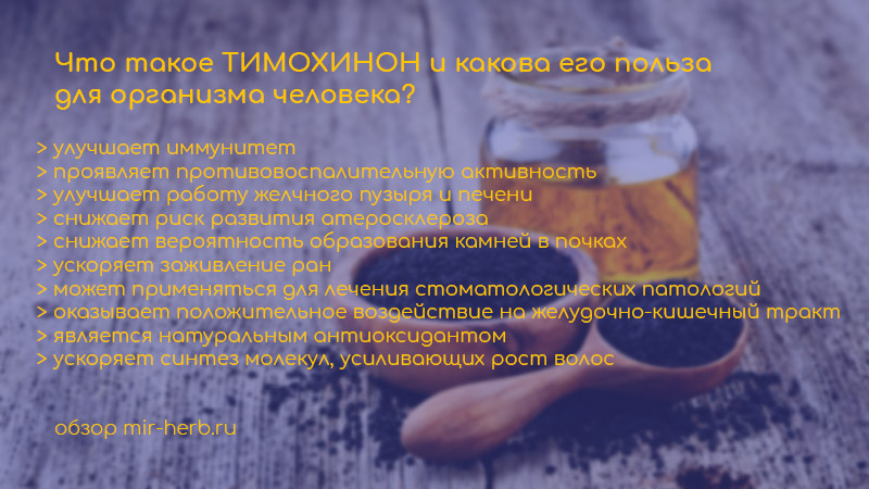 Что такое тимохинон и какова его польза для организма человека? Где вещество содержится в большой количестве? Примеры добавок с тимохиноном