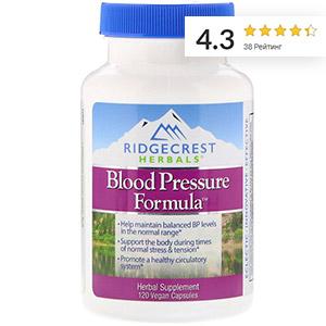 RidgeCrest Herbals, Формула кровяного давления