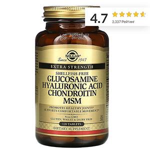 Solgar,-глюкозамин,-гиалуроновая-кислота,-хондроитин-и-МСМ