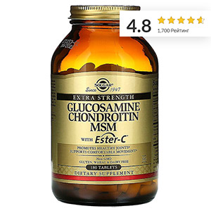 Solgar,-глюкозамин,-хондроитин-и-МСМ-с-Ester-C