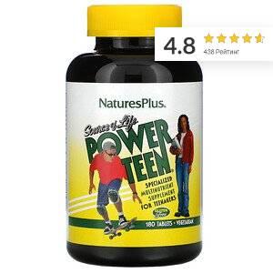 Nature's Plus, Source of Life, Power Teen, питательная добавка для подростков