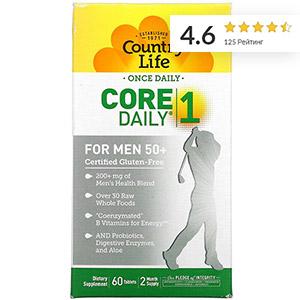 Country Life, Core Daily-1, мультивитамины для мужчин старше 50 лет