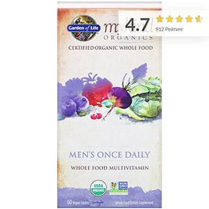 Garden of Life, MyKind Organics, комплекс для мужчин