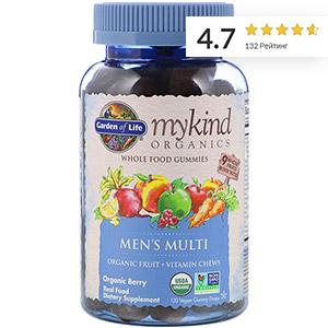 Garden of Life, MyKind Organics, мультивитамины для мужчин