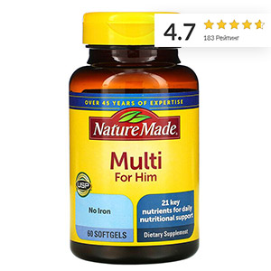 Nature Made, Мультивитамины для мужчин
