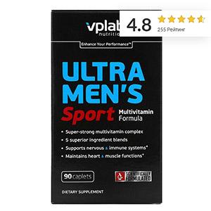 Vplab, Ultra Men's, мультивитамины для мужчин для физической активности