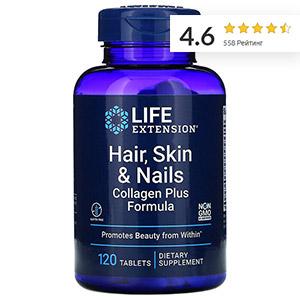 Life Extension, Средство с коллагеном для поддержания здоровья волос