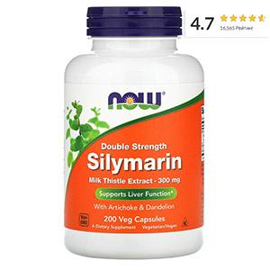 Now Foods, силимарин двойной концентрации, 300мг, 200растительных капсул