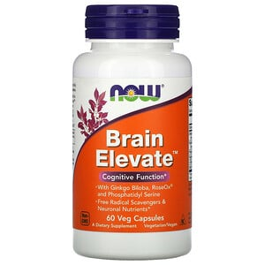 Now Foods, Brain Elevate, 60растительных капсул