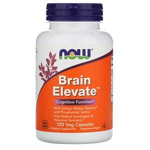 Now Foods, BrainElevate, поддержка здоровья мозга