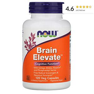 Now Foods, Brain Elevate, поддержка здоровья мозга