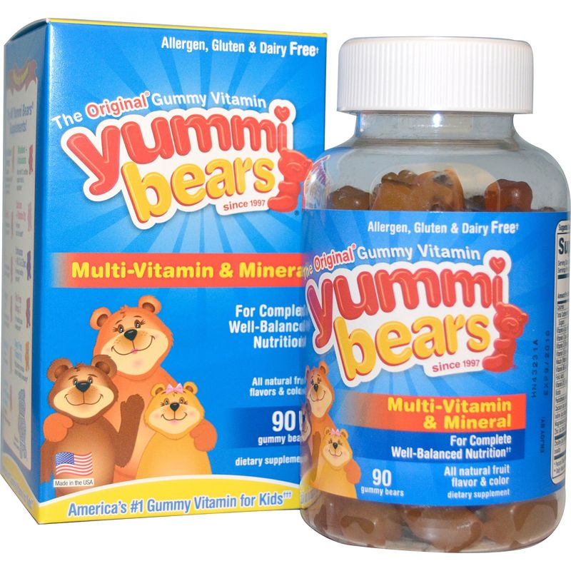 Hero Nutritional Products, Yummi Bears, Complete Multi-Vitamin