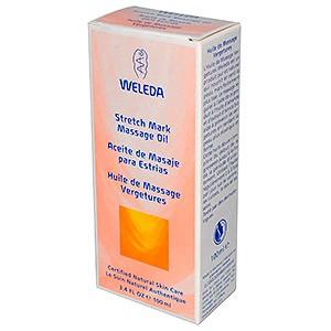 Массажное масло от растяжек Weleda