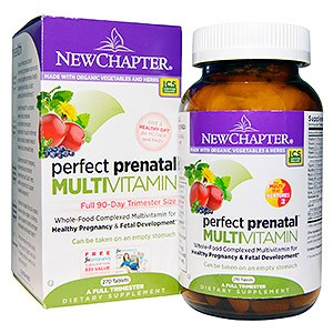 New Chapter Organics Perfect Prenatal Wholefood Multivitamin