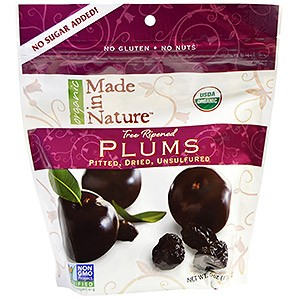 Made in Nature Organic Plums Pitted Dried Unsulfured