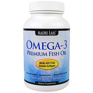 Madre Labs, Omega-3 Premium Fish Oil