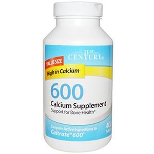 21st Century, Calcium Supplement 600