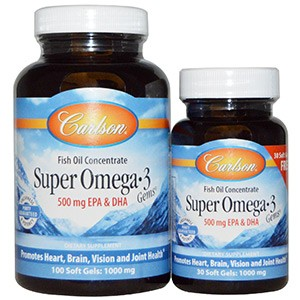Carlson Labs, Super Omega·3 Gems, Fish Oil Concentrate
