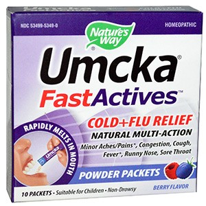 Nature's Way, Umcka, Fast Actives, Cold + Flu Relief, Berry Flavor, Non-Drowsy