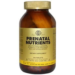 Solgar, Prenatal Nutrients, Multivitamin & Mineral