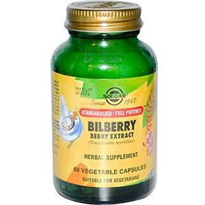 Solgar, Bilberry Berry Extract