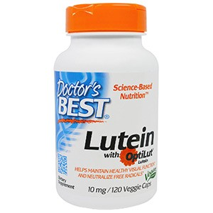 Doctor's Best, Lutein with OptiLut, 10 мг, 120 капсул