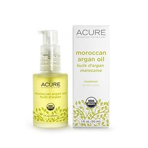 Acure Organics, 100 % сертифицированное, органическое, марокканское аргановое масло, Восстановление для всех типов кожи, 30 мл